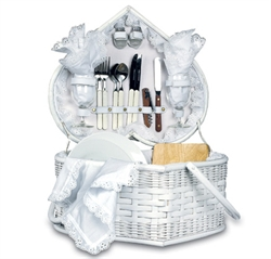 Picture of Picnic Time Wedding Heart Picnic Basket