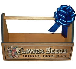 Picture of Flower Seeds Wooden Tote