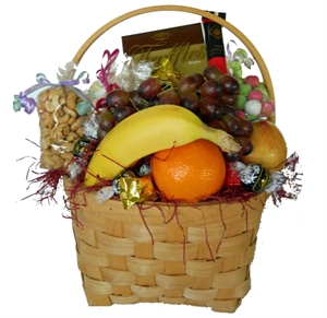 Picture of Fruit, Nuts & Chocolates Gift Basket