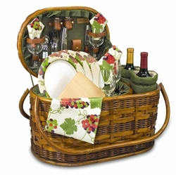 Picture of Picnic Time Merlot Deluxe Wine & Picnic Basket
