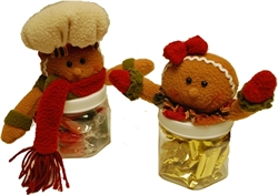 Picture of Gingerbread Couple Candy Jars
