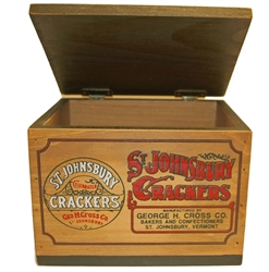 Picture of St. Johnsbury Wooden Cracker Box