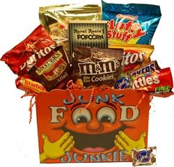 Picture of Junk Food Junkie Gift Basket