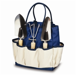 Picture of Picnic Time Large Garden Tote with Garden Tools