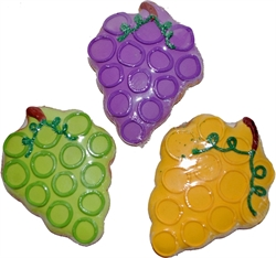 Picture of Hand Decorated Grape Bunches Cookies