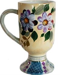 Picture of Ceramic Floral Pedestal Mug
