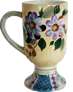 Picture of Ceramic Floral Pedestal Mug