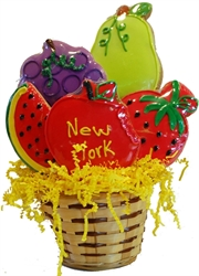 Picture of Cookie Bouquet - Fruit Basket
