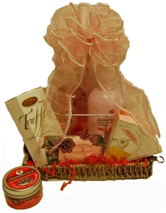 Picture of Strawberry Spa Tray Gift Basket