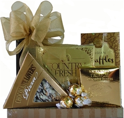 Picture of Golden Chocolate Gourmet Gift Stack
