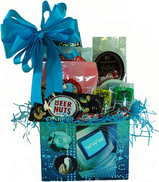 A one of a kind gift albany ny gift baskets appetizer computer picture of geeks bearing gifts gift basket negle Image collections