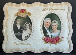 Picture of 40th Anniversary Double Picture Frame