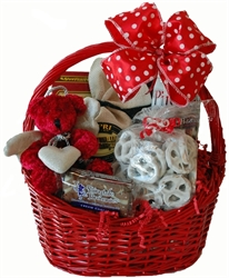Picture of Angel Teddy Valentine Gift Basket