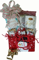 Picture of Snowman Treats Gift Basket - Small