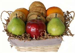 Picture of Homemade Cookies & Fruit Gift Basket
