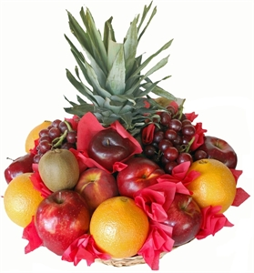 Picture of Fruit Basket with Pineapple & Grapes