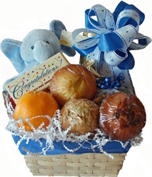 Picture of New Baby Fruit, Muffin & Snack Gift Basket