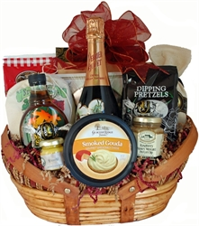 Picture of Custom Wedding Basket with Perrier Jouet