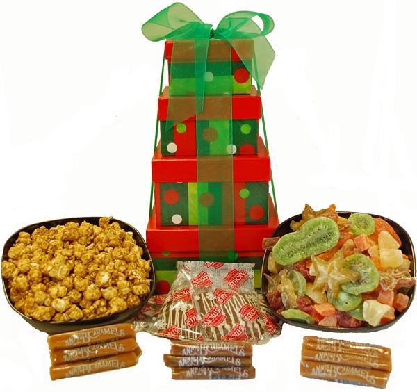 Popcorn gift baskets christmas