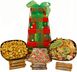 Picture of Christmas Polka Dot Gift Box Stack