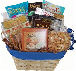 Picture of Puzzles & Snacks Get Well Gift