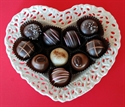 Picture of Porcelain Heart Dish with Truffles