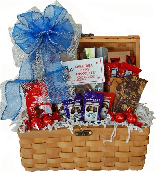 A one of a kind gift albany ny gift baskets candy chocolate gifts best of luck gift basket negle Image collections
