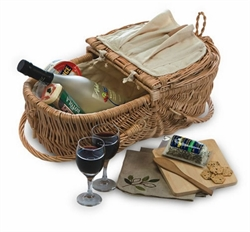 Picture of Eco Wine & Cheese Basket