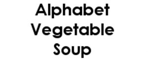 Picture of Alphabet Vegetable Soup - Vegan