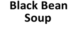 Picture of Black Bean Soup - Vegan/Fat Free