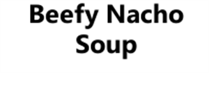 Picture of Beefy Nacho Soup
