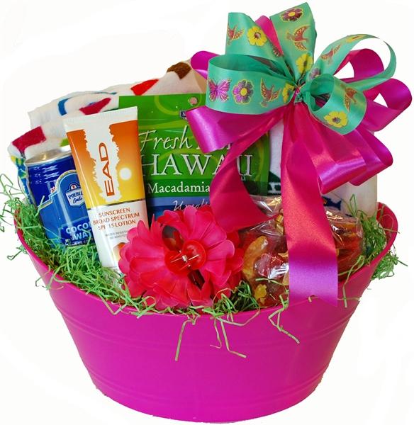 Hawaiian Vacation Gift Basket