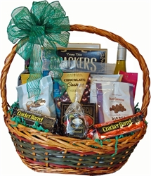 Picture of Wines, Cheeses, Nuts & Chocolates Gift Basket