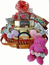 Picture of Conversation Hearts Bear & Gift Basket