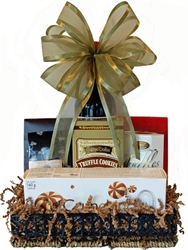 Picture of Wine, Cookies & Chocolates Gift Basket