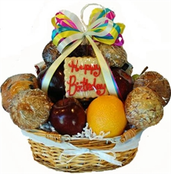 Picture of Birthday Muffin, Fruit & Goodies Gift Basket