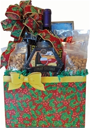 Picture of Holly-Days Wine & Cheese Gift Box