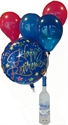 Picture of Bottle with Balloon Bouquet