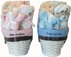 Picture of Baby Bath Baskets with Growth Chart & Picture Frame