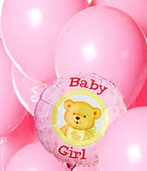 Picture of Baby Girl Balloon Bouquet