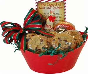 Picture of Christmas Cookie Basket with Milk & Cookies Ornament