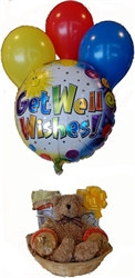 Picture of Get Well Basket with Balloons for a Child