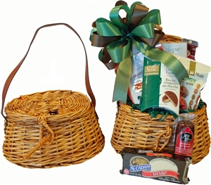 Picture of Fishing Creel Gift Basket