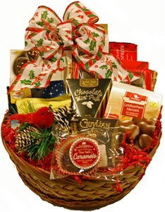 Picture of Christmas Cardinal Gift Basket