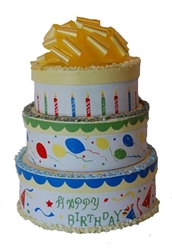Picture of Birthday Cake Gift Tower